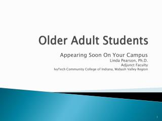 Older Adult Students