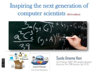 Inspiring the next generation of computer scientists  (2014 edition)