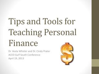 Tips and Tools for Teaching Personal Finance