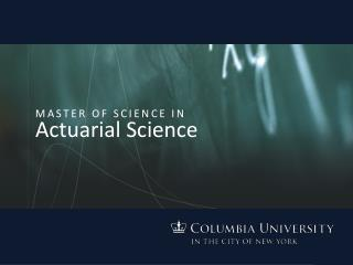 Master of Science in Actuarial Science