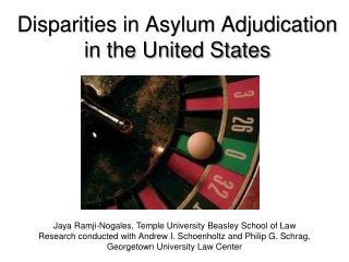 Disparities in Asylum Adjudication in the United States