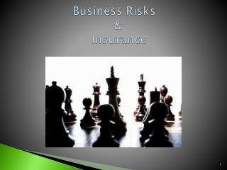 Business  Risks                                &                          Insurance