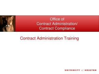 Office of  Contract Administration/ Contract Compliance