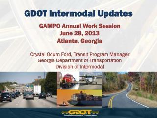 GDOT Intermodal Updates
