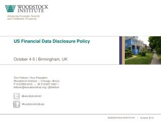 US Financial Data Disclosure Policy