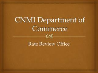 CNMI Department of Commerce
