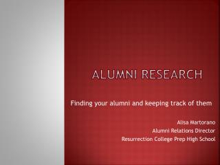 Alumni Research