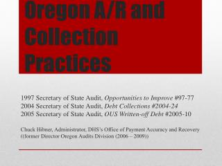 Oregon A/R and Collection Practices