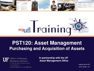 PST120: Asset Management Purchasing and Acquisition of Assets