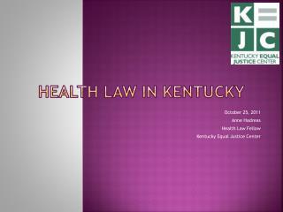 Health Law in Kentucky