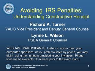 Avoiding  IRS Penalties: Understanding Constructive Receipt