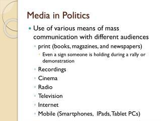 Media in Politics