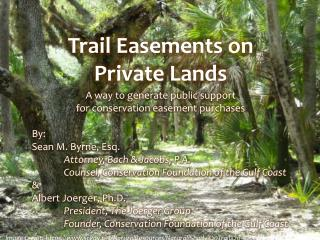 Trail Easements on Private Lands