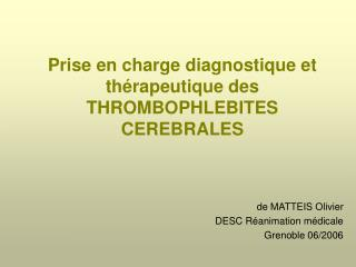Prise en charge diagnostique et th