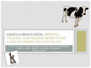 Geneva Orientation:  Prepping, packing, and making home in the land of cheese and chocolate