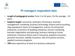 PF managers  respondent  d ata
