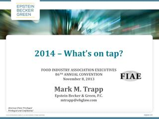 2014 – What's on tap?