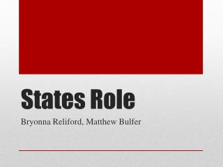 States Role
