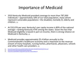 Importance of Medicaid