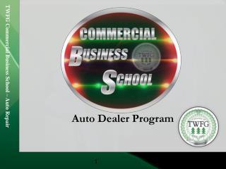 Auto  Dealer Program