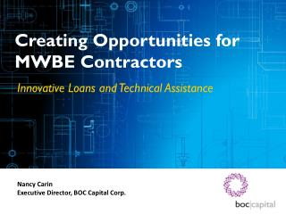 Creating Opportunities for MWBE Contractors