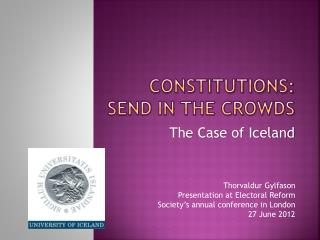 Constitutions: send in the crowds