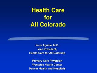 Health Care  for  All Colorado