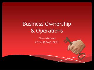 Business Ownership  & Operations