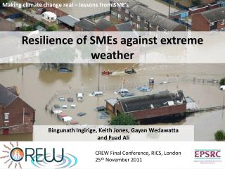 Resilience of SMEs against extreme weather