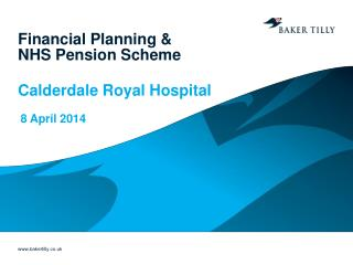Financial Planning &  NHS Pension Scheme