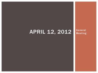 April 12, 2012