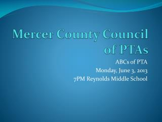 Mercer County Council of PTAs