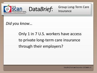 Group Long-Term Care Insurance