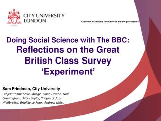 Doing Social Science with The BBC:  Reflections on the Great British Class Survey 'Experiment'