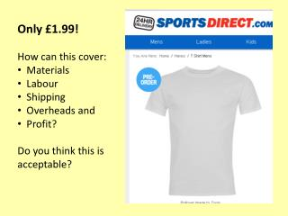 Only £1.99! How can this cover: Materials Labour Shipping Overheads and Profit? Do you think this is acceptable?