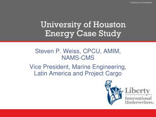 University of Houston Energy Case Study