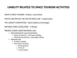 LIABILITY RELATED TO SPACE TOURISM ACTIVITIES
