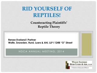 Rid Yourself of Reptiles !