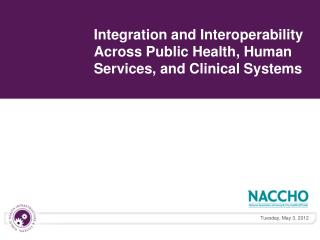 Integration and Interoperability Across Public Health, Human Services, and Clinical Systems