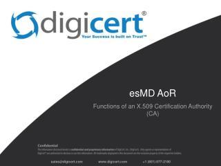 esMD AoR
