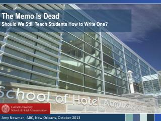 The Memo Is Dead Should We Still Teach Students How to Write One?