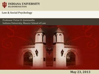 Law & Social Psychology