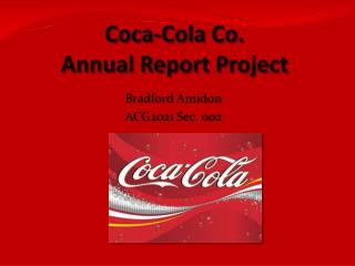 Coca-Cola Co. Annual Report Project