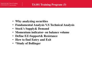 TA101 Training Program (3)