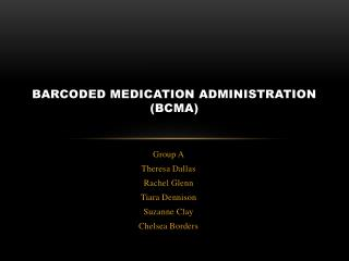 Barcoded  Medication Administration (BCMA)