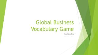 Global Business Vocabulary Game