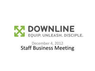Staff  Business  Meeting