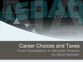 Career Choices and Taxes