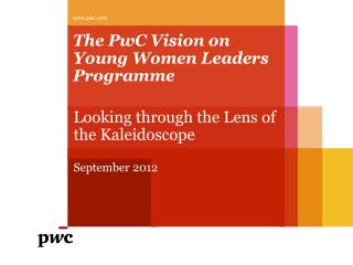 The PwC Vision on Young Women Leaders Programme
