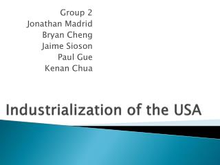 Industrialization of the USA